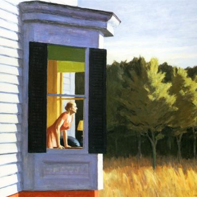 Le donne di Hopper e l'ultrapittura  in Cape Code, Sole del mattino, Una donna al sole